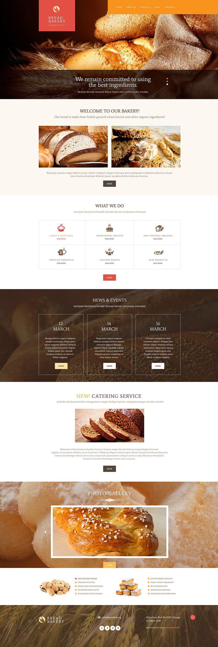 bakery #wordpress template #wordpresstheme wordpress website template