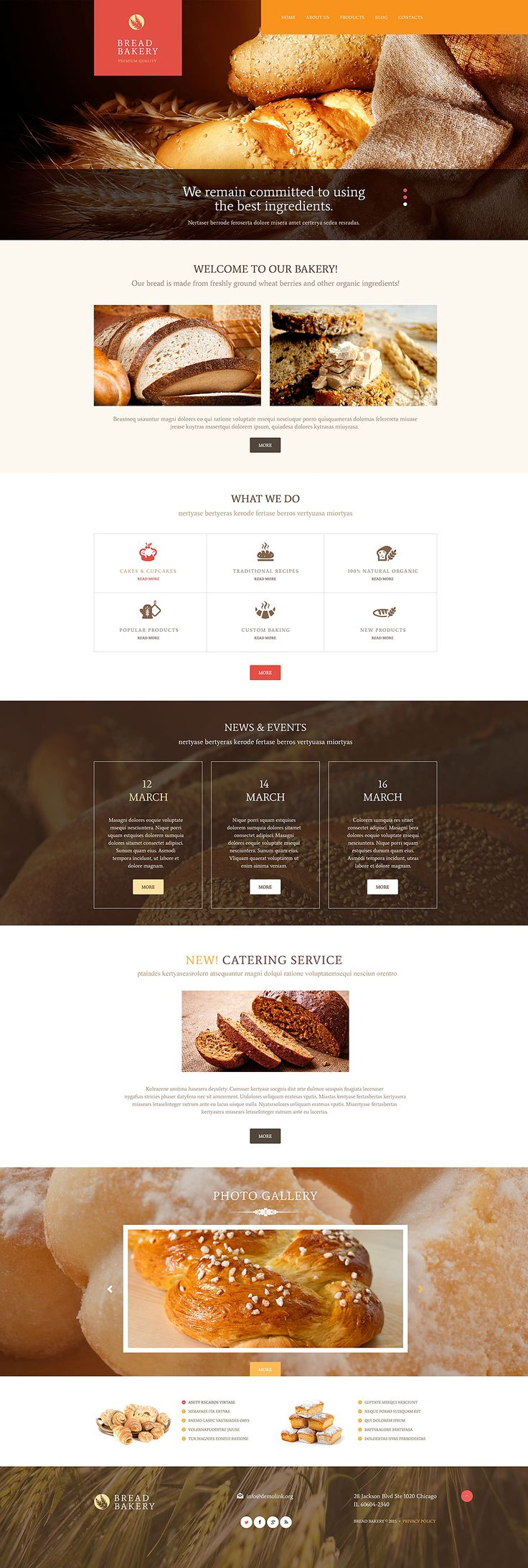 bakery #wordpress template #wordpresstheme wordpress website template