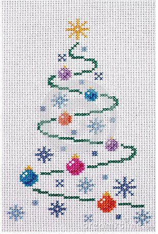Modern Xmas tree X-stitch