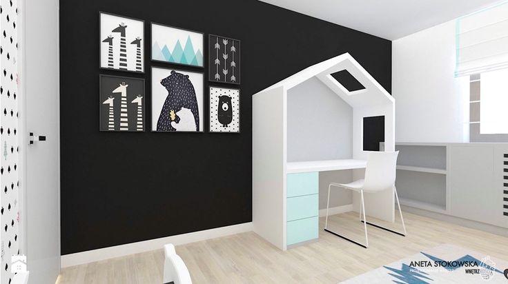 Dom w Pruszkowie - Średni pokój dziecka dla chłopca dla dziewczynki dla malucha, styl nowoczesny - zdjęcie od WNĘTRZNOŚCI Projektowanie wnętrz i mebli Aneta Stokowska