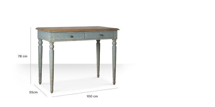 Swoon Editions Desk, french style in distressed cornflower blue - £299