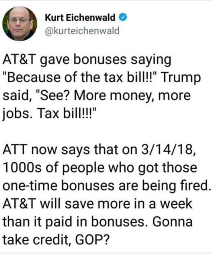 "Just wait til the other 'Shoe Drops' and the effects of these ""Wealthy Only"" Tax Cuts Kick In. By years end there's going to be a lot of Bitchin & Complaining from the very people who voted for trump/Republicans. #emptypocketbooks"