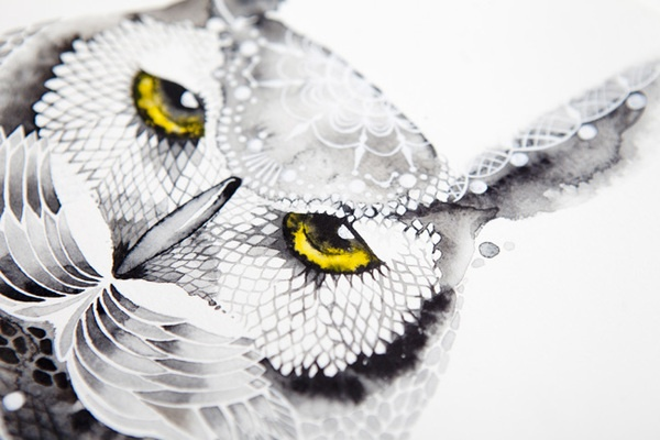 Alive Laces by Irina Kaygorodova, via Behance