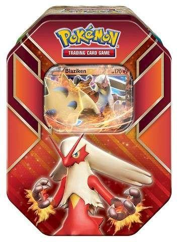 Pokemon Trading Card Game Hoenn Power Spring Tin featuring Blaziken