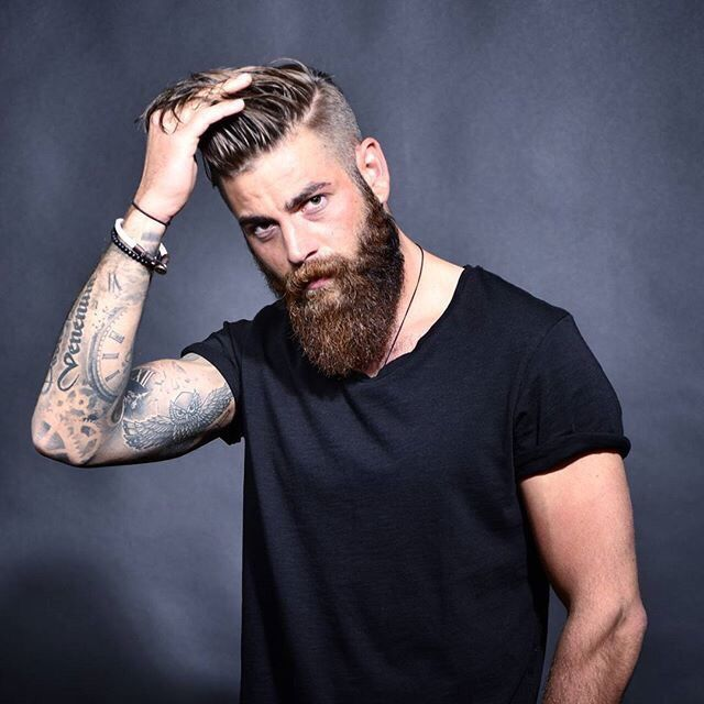 Hairstyles For Men With Beards 369 Best Hair & Beard Ideas Images On Pinterest  Beard Tattoo