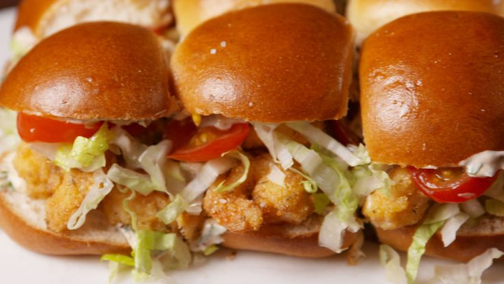 Shrimp Po' Boy Sliders  - Delish.com