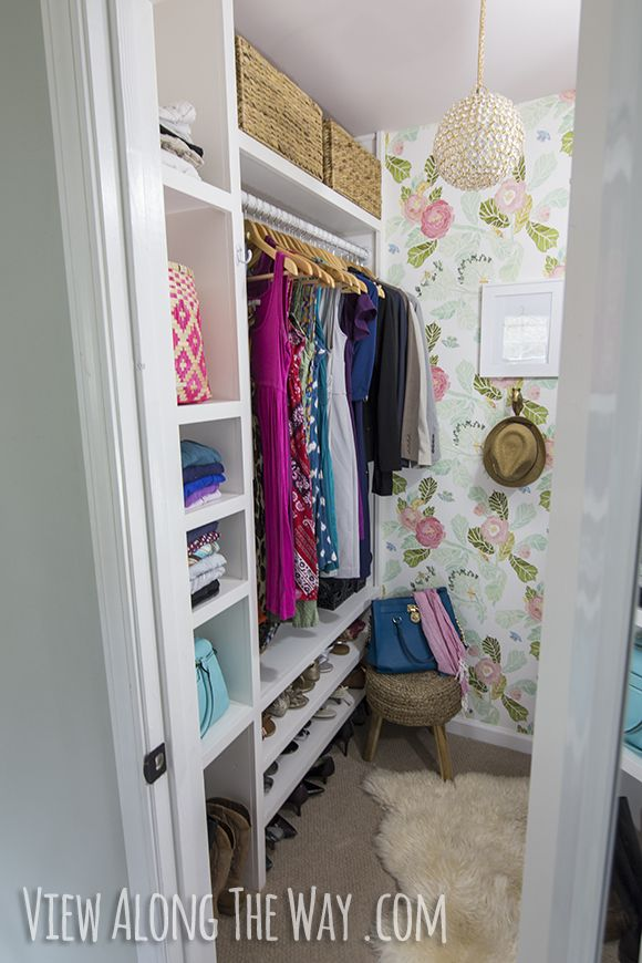 Gorgeous DIY girly-glam closet makeover on a tiny budget! Check it out!