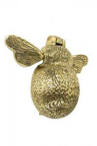 Polished Brass Bee Door Knocker - Brass Door Knockers - Door Knockers - Door Furniture - Hardware - Catalogue | Black Country Metal Works
