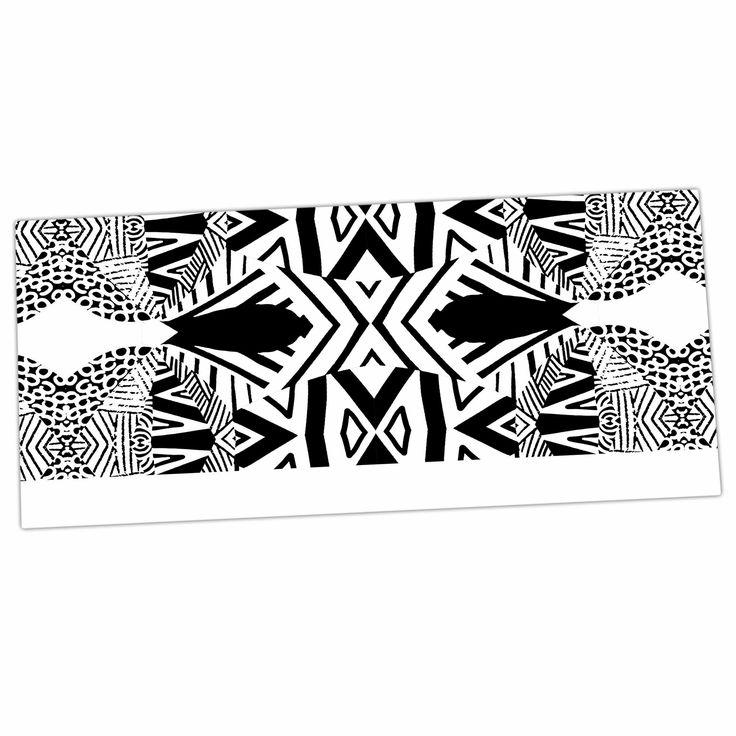 """Pom Graphic Design """"Africa"""" Black White Desk Mat"""