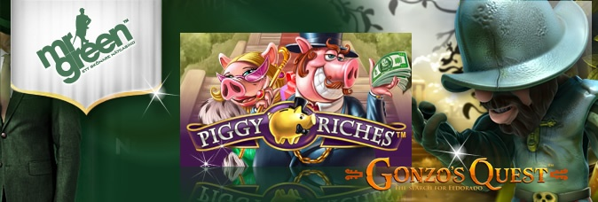 Play the high limit slots at Mr Green Casino - this includes popular slot games such as Gonzo's Quest and Piggy Riches: http://www.casinomanual.co.uk/play-high-limit-piggy-riches-gonzos-quest-slots-green-casino/
