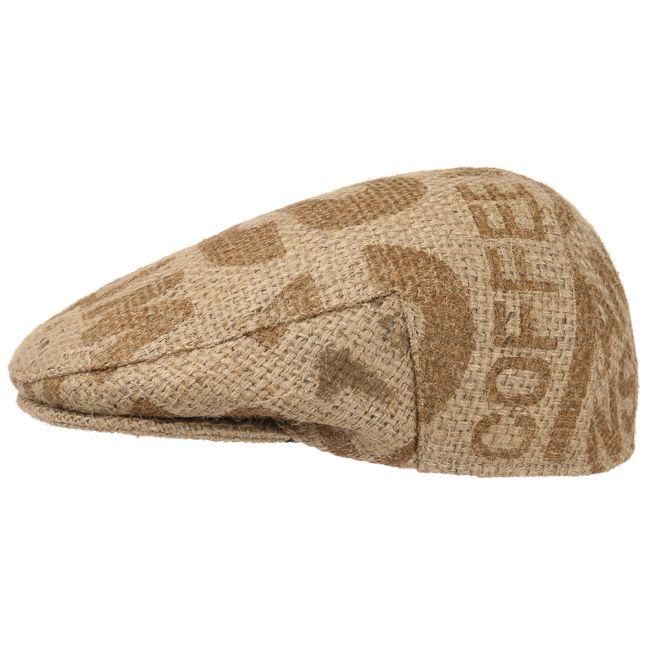 Originele flat cap voor de zomer, van 100 % jute. Café Espresso Caffex Pet binnen 1 dag geleverd & 100 dagen ruilen. Thuiswinkel lid & iDEAL-betaling.