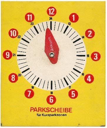 DDR Museum - Museum: Objektdatenbank - Parkscheibe    Copyright: DDR Museum, Berlin. Eine kommerzielle Nutzung des Bildes ist nicht erlaubt, but feel free to repin it!