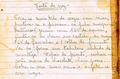 As Receitas da Avó Helena e da Avó Eduarda: Torta de Noz