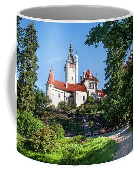 Jenny Rainbow Fine Art Photography Coffee Mug featuring the photograph Romantic Pruhonice Castle by Jenny Rainbow