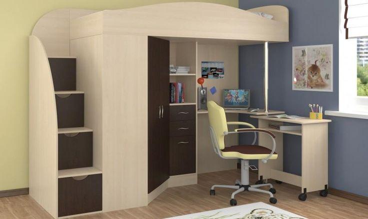 детская мебель, кровати-чердаки, кровать-чердак с рабочей зоной, кровать-чердак недорого, кровать-чердак до 20 тысяч