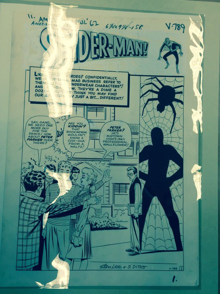 A day in the life of comics journalist: Basking in Ditko glow of Spider-Man's debut-issue orig. art @librarycongress