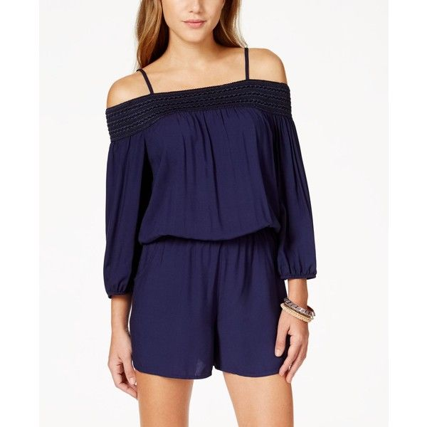 408acda481b5 Bcx Juniorsu0026 39  Off-the-Shoulder Romper ( 45) Liked On