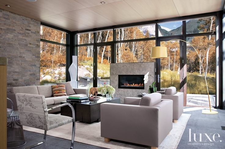 Architect Eric Cummings and interior designer Catherine Frank took the simplicity of this home and added elements to give it a more modern and rustic feel. Featured in our Colorado Fall 2010 issue... #Luxe