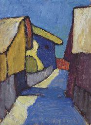 Gabriele Münter (1877-1962) Na een verblijf in Zuid-Tirol in 1908, gaat het paar samenwonen in München. Van daaruit ontdekken ze het nabijgelegen schilderachtige plaatsje Murnau, idyllisch gelegen aan de Staffelsee en omringd door uitlopers van de Alpen. Hier gaan ze in de nazomer schilderen in gezelschap van Marianne von Werefkin en Alexej von Jawlensky. Met name de invloed van deze laatste is in het werk van Münter terug te vinden.