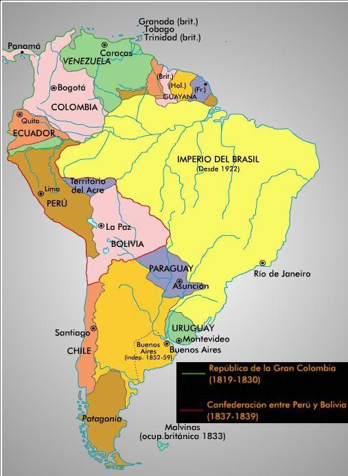 El Mapa de la Gran Colombia - Gobernación de Guayaquil