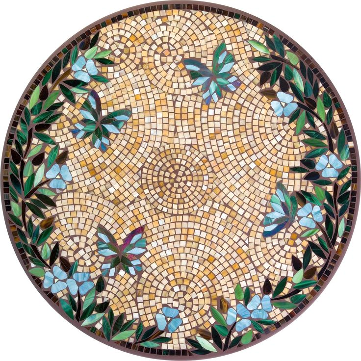 Knf caramel butterfly mosaic 1950 1950 for Mosaic designs garden