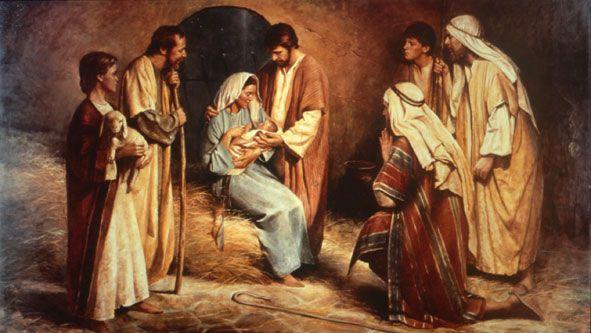Birth of Jesus by Del Parson
