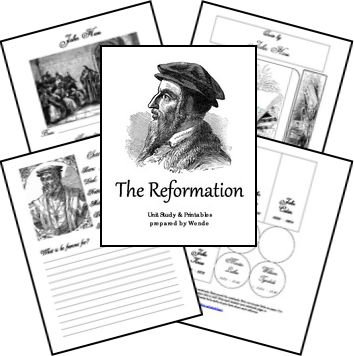 I got this FREE Reformation Unit Study and Lapbook and it is great.  We can't wait to start
