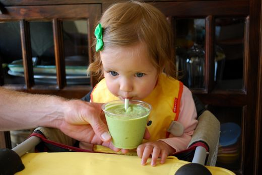 Avocado and Spinach Baby Smoothie 12+ months for a younger baby 6m you can do Avocado, sweetpot, and milk of choice to make them a smoothy