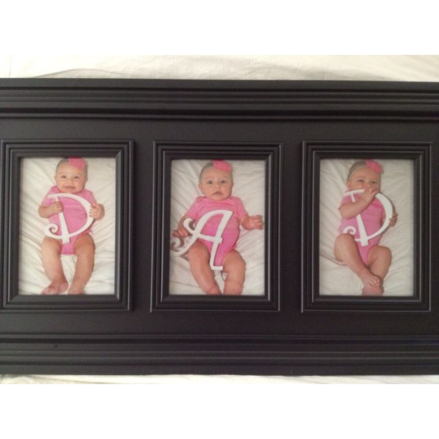 Father's Day photo gift  to daddy, to hang in his office at work! Thanks to pinterest for giving us this adorable idea! Dad LOVED it!