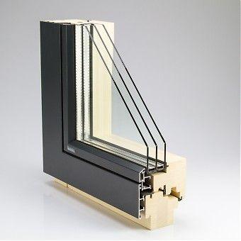 Holz Alu Fenster mit FB (flächenbündig)