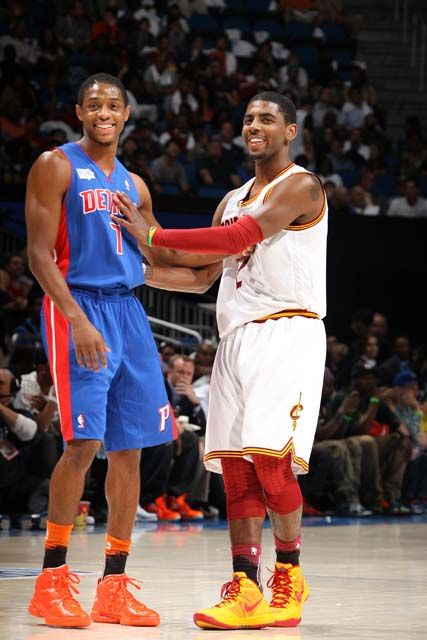 Brandon Knight  Kyrie Irving-Two of the NBA's young point guards
