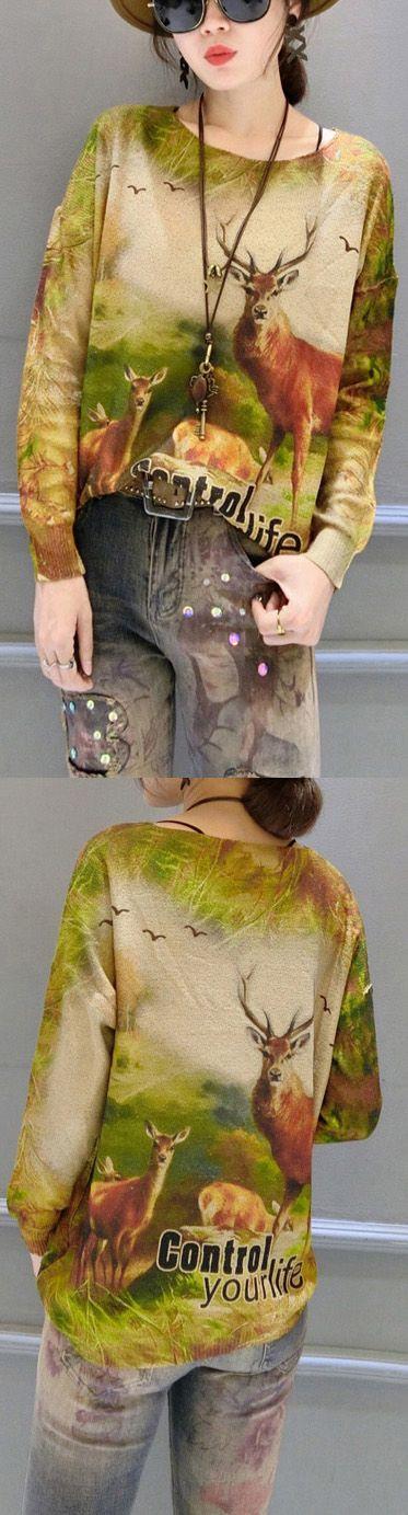 $52.00-animal-print-stylish-sweater-women-batwing-sleeve-knit-tops