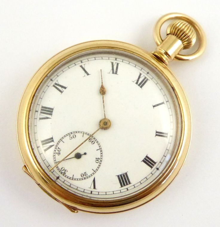 Antique 1900s Lonville Gold Plated Pocket Watch - The Collectors Bag