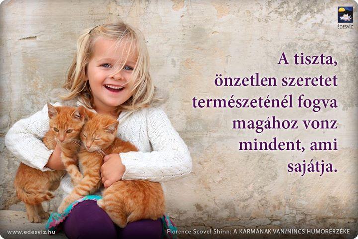 Florence Scovel Shinn gondolata a szeretetről. A kép forrása: Édesvíz Kiadó és Könyvesbolt # Facebook