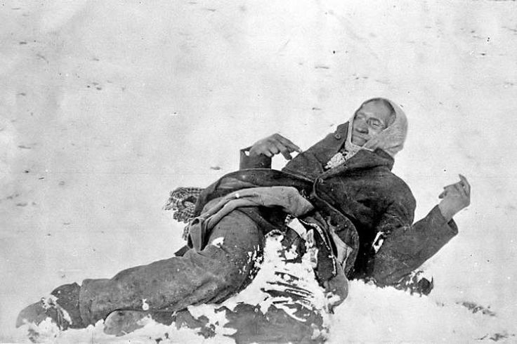 """""""Spotted Elk"""" was the name of the famous Lakota Sioux chief, pictured here, who was killed at Wounded Knee.  The Wounded Knee Massacre transpired in 1890, when 152 Sioux were unjustly killed by Union soldiers.  The majority of the Sioux killed were women and children. It was a hot-button issue in American history for many, many years, and remains so."""