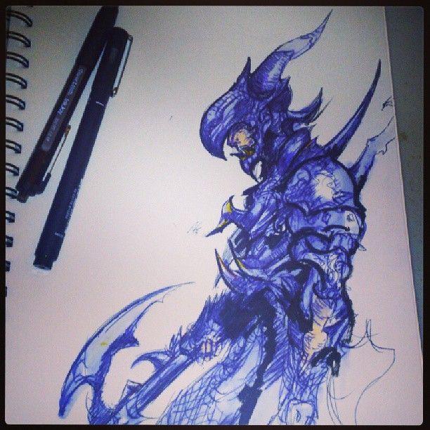 FFXIV Dragoon. by RickBolandArt