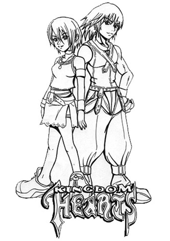 27 best Disney Kingdom Hearts coloring pages Disney images