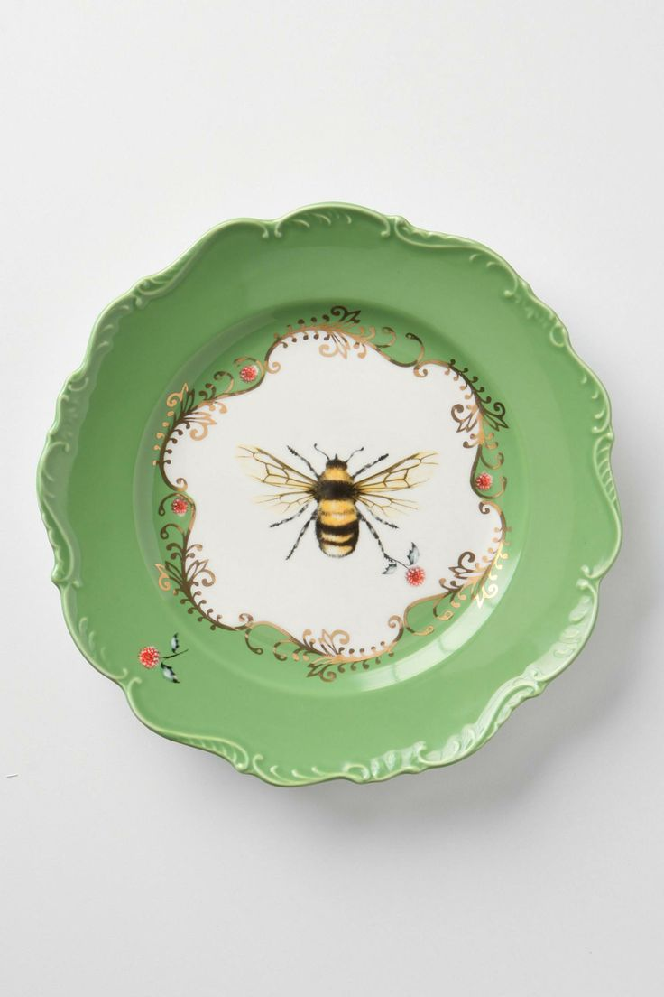 Natural World Plate, Bee - anthropologie.eu