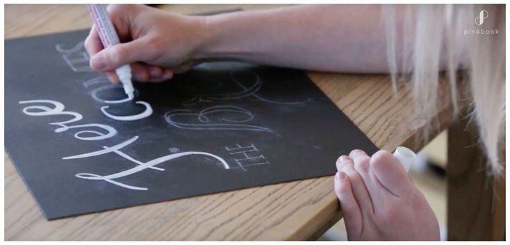 DIY blackboard marker trace