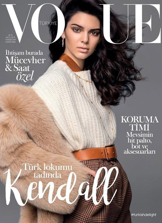 Kendall Jenner Covers Vogue Turkey November 2016 Issue