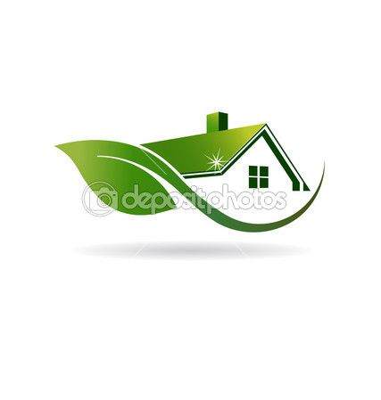 Natural House cleaning image logo — Stock Illustration #51380645