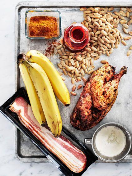 Recept: Flygande Jacob med banan, jordnötter och bacon - DN.SE