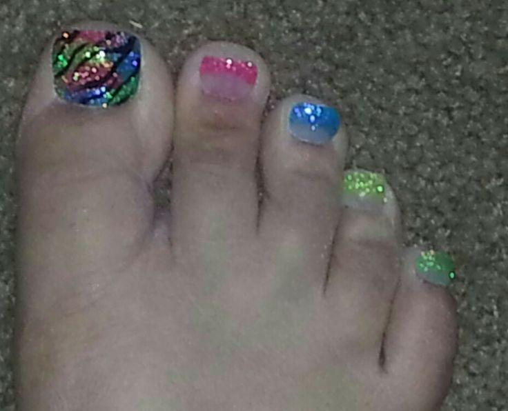Acrylic toe nail art