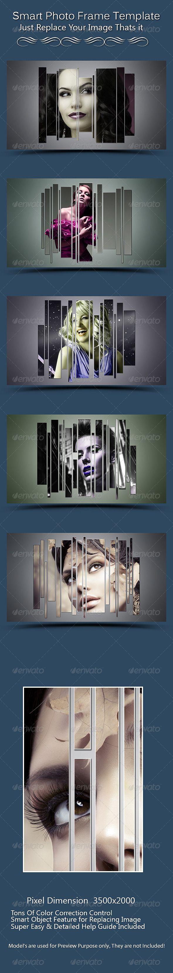Smart  Photo Frame Template PSD #design Download: http://graphicriver.net/item/smart-photo-frame-template/7897501?ref=ksioks