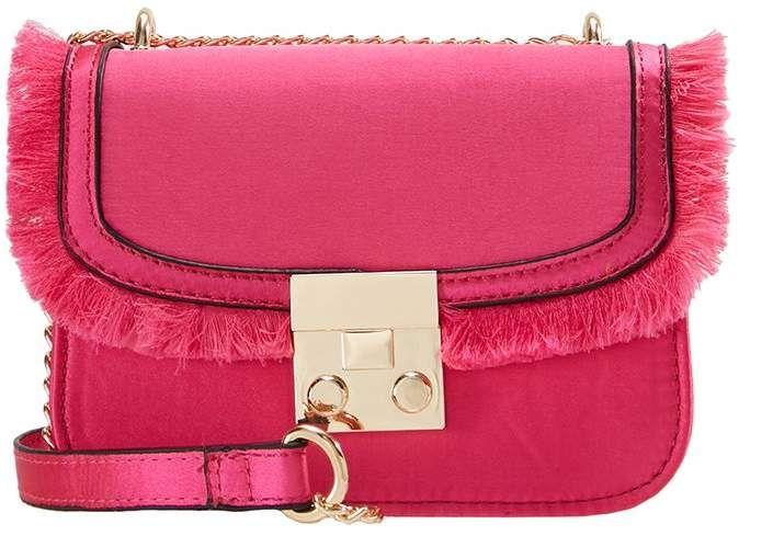 Miss Selfridge FRAY X BODY Across body bag pink