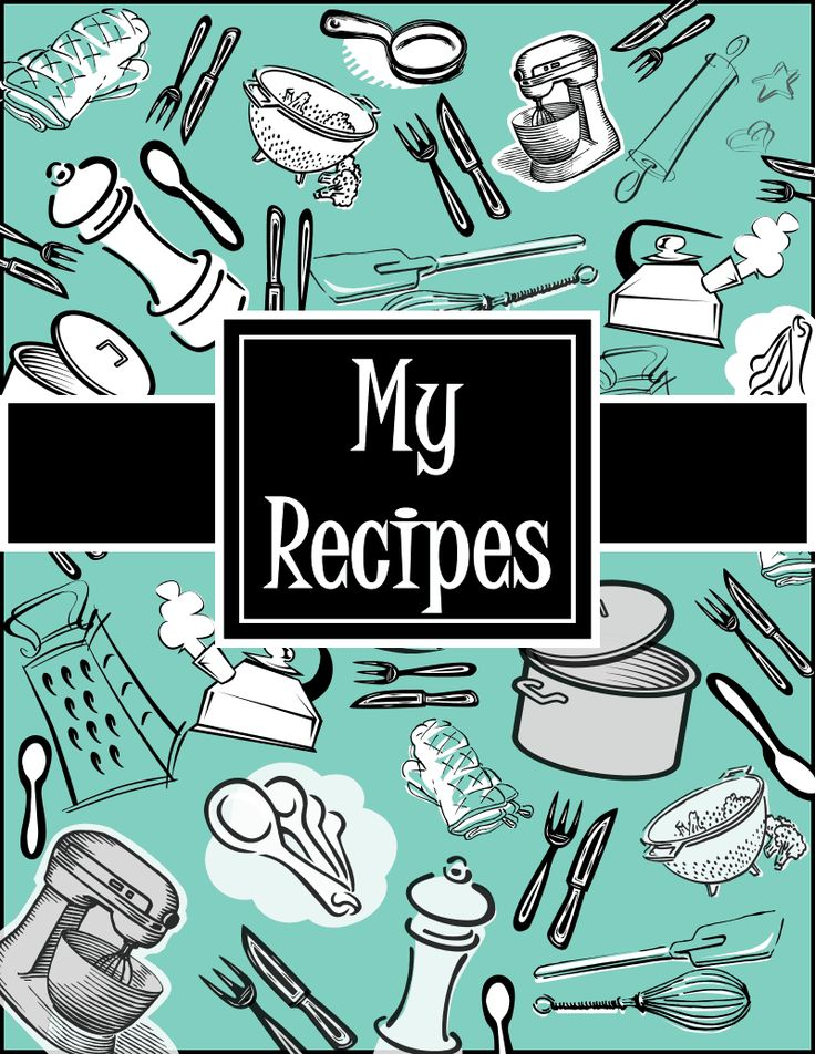 Gargantuan image regarding recipe book cover printable