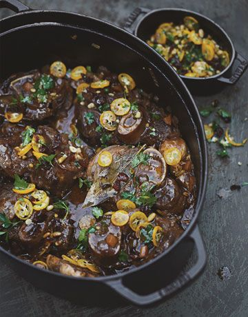 Tyler Florence's Recipe for California Osso Buco with Kumquat-Cranberry Gremolata