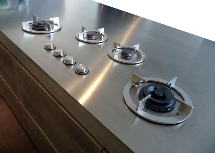 Interior Innovation award 2011 and reddot design award winning i-Cooking in 4 mm stainless steel worktop by abk-innovent.com