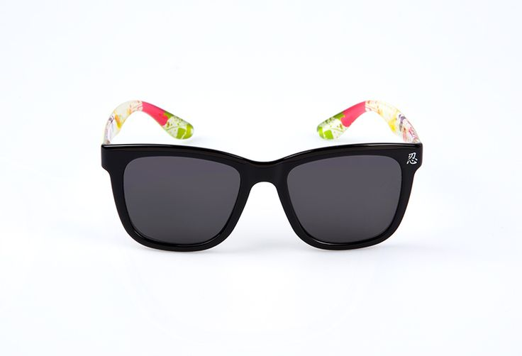 Green Temple Sunglasses by SNRD. Inspired by the wayfarer design and made from lightweight material, green temple and SNRD logo on the side, colorful pattern on the interior temple. http://www.zocko.com/z/JJ4tw