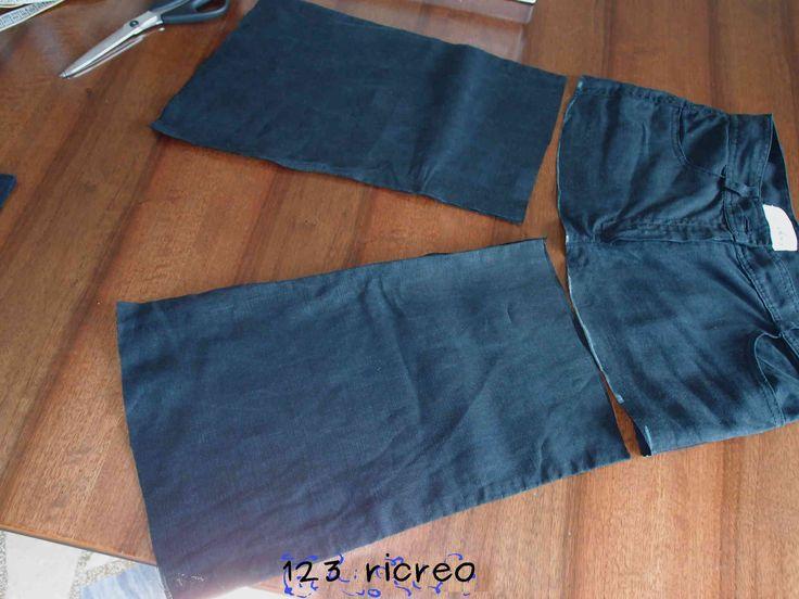 Come trasformare un #pantalone in una #gonna - tutorial 123ricreo - fai da te